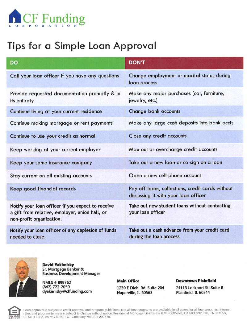 Tips for Simple Loan Approval from CF Funding